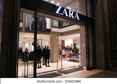 BARCELONA, SPAIN - NOVEMBER 5: People visit Zara store on November 5, 2012 in Barcelona, Spain. Zara has 1,763 stores and had more than 7 billion EUR revenue in 2009.
