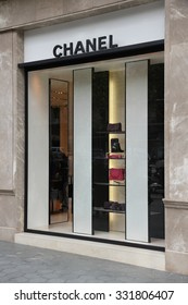 BARCELONA, SPAIN - NOVEMBER 6, 2012: Chanel store in Barcelona, Spain. The famous brand exists since 1909 and had 6.3 billion EUR revenue in 2012.