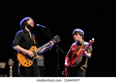 BARCELONA, SPAIN - OCT 15: The Hazey Janes band performs at Gran Teatre del Liceu on October 15, 2012 in Barcelona.
