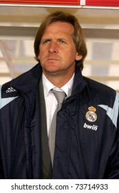 BARCELONA, SPAIN - OCT 20: Bernd Shuster coach of Real Madrid during La Liga match between Espanyol and Real Madrid at the Montjuic Olympic Stadium on October 20, 2007 in Barcelona, Spain