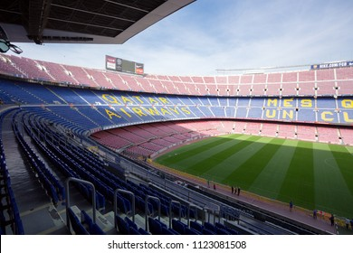 BARCELONA, SPAIN - OCT 29, 2015. Camp Nou stadium the home stadium of FC Barcelona.