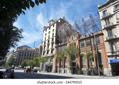 BARCELONA, SPAIN - SEPTEMBER 25: View of the Tapies Founation building, created in 1984 by the artist Antoni Tapies to promote modern and contemporary art, in Barcelona, Spain, on September 25, 2012.