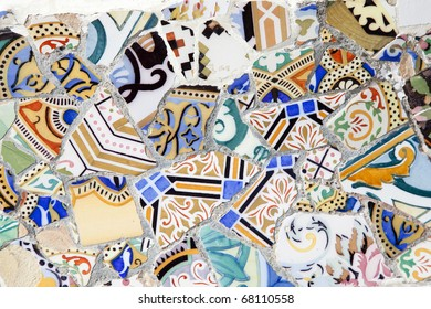"""BARCELONA, SPAIN-AUGUST 29:  Park Guell, designed by Antonio Gaudi, August 29, 2010 in Barcelona. Part of the UNESCO World Heritage Site """"Works of Antoni Gaudi""""."""