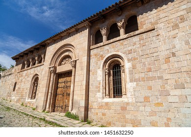 BARCELONA, SPAIN-JUNE 23,2019: Old building convent close to monastery of Pedralbes, rebuild by Enric Sagnier. Les Corts quarter.