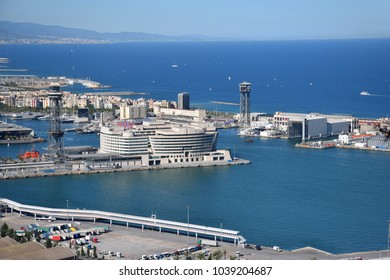Barcelona's Port in the Mediterranean sea