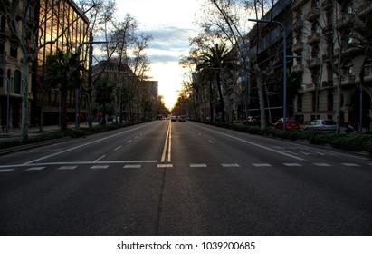 Barcelona's Street by night