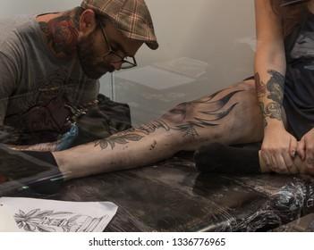 Barcelona/Spain; 01 01 2016: The wonderful art of tattoo
