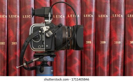 Barcelona,Spain, 04-18-2020 Hasselblad Camera SWC 6x6  Analog