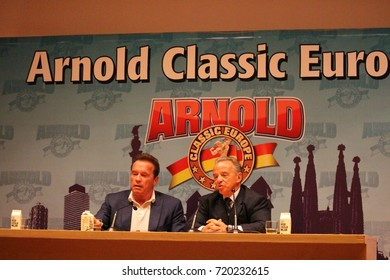"BARCELONA/SPAIN - 22 SEPTEMBER 2017: Former governor of the state of California Arnold Schwarzenegger participating at the press conference at the opening of the 7th edition of ""Arnold Classic Europe"""