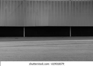 BARCELONA,SPAIN - February 25,2017: Shot of Diagonal Mar street  in Barcelona, Spain. This image may contain noise ,blurry clouds due to long exposure, soft focus and poor lighting.