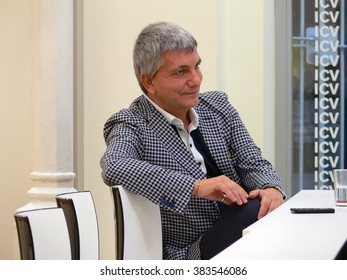 BARCELONA/SPAIN - OCTOBER 29, 2011: Italian gay politician Nichi Vendola. On the end of February 2016 he has become father with his partner Eddy Testa through a surrogate mother