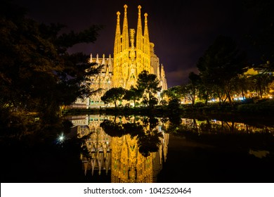 BARCELONA,SPAIN-3/5/2016:La Sagrada Familia-impressive cathedral designed and unfinished by Gaudi, which is being build since 19 March 1882
