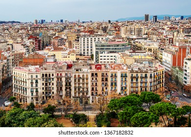 Barcelona,Spain-December 31,2012:view on the city.