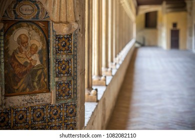BARCELONA,SPAIN-JULY 14,2016: Religious building, monastery of Pedralbes, Barcelona.