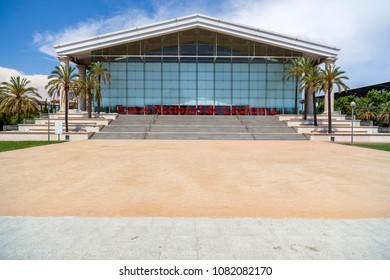 BARCELONA,SPAIN-JUNE 8,2015:Theater exterior view, Teatre Nacional de Catalunya, by Ricard Bofill. Barcelona.