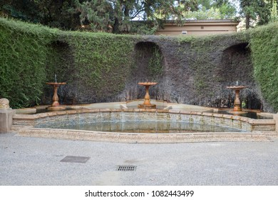 BARCELONA,SPAIN-OCTOBER 7,2014:Gardens of Tamarita in Sarria Sant Gervasi quarter of Barcelona.
