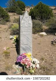 Barclay, NV / USA - Sept 27, 2009: Headstone of Lyman Lafayette Woods, 1833-1918.