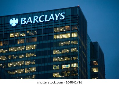 Barclays bank offices in Canary Wharf in London on November 28, 2013. Full-time employees in the UK work longer hours than the EU average, according to the Office for National Statistics.