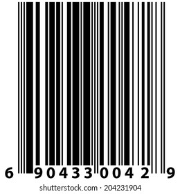 Barcode label - black and white element for design