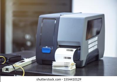Strichcode-Etikettendrucker. Strichcode drucken
