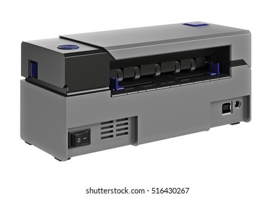 Barcode printer register digital electronic. 3D graphic
