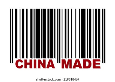 Barcode with red label China Made