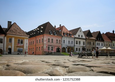 Bardejov - Slovakia - 06-09-2010:  Colorful houses in the central square