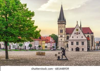 BARDEJO|V, SLOVAKIA - MAY 13: Historic  town in Unesco town Bardejov on  May 13, 2017 in Bardejov