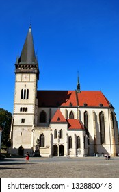 Bardejov, Slovakia - September 12,2018: the Basilica of St. Giles in the Bardejov historical center