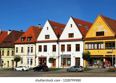 Bardejov, Slovakia - September 12,2018: The Bardejov historical center