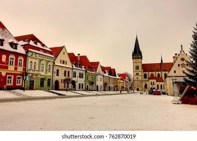Bardejov in winter, Slovakia