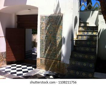 Bardo National Museum of Prehistory and Ethnography (Musée National du Bardo), Algiers, Algeria - May 6, 2014: Interior design details from the museum.