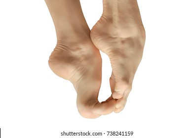 bare feet dancer/feet of classic ballerina