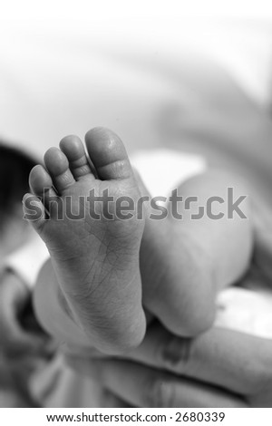 Bare Feet Newborn Baby Sloppy Sentimentality Stock Photo (Edit Now