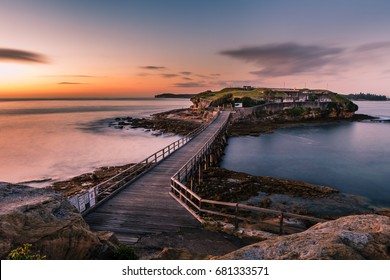 Bare Island. sunrise over the Island that was once a defense post & close to where Captain James Cook first landed in Australia is now a great tourist haunt.