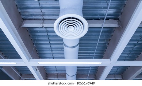Bare skin ceiling; show steel structure, air condition system, lighting design, electrical system and fire protection system.