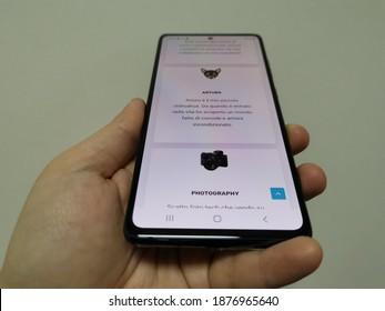 Bareggio, Italy, 10 December 2020, Samsung Galaxy S20 Fan Edition