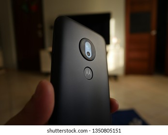 Bareggio Italy 26 March 2019 - Motorola Moto G7 Play