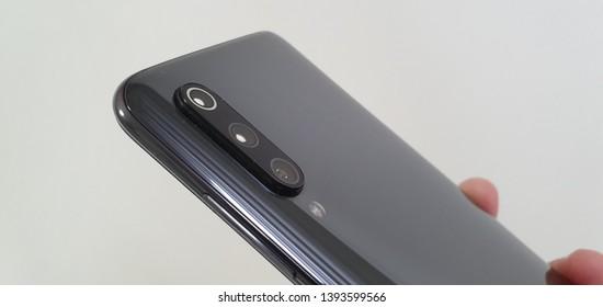 Bareggio, Milan, Italy - 05 May 2019 - Xiaomi Mi9 smartphone