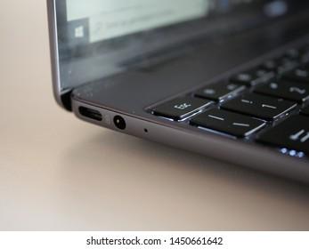 Bareggio, Milan, Italy - 14 July 2019 - notebook Huawei Matebook 13