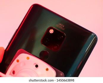 Bareggio, Milan, Italy, 25 July 2019 - smartphone Huawei Mate X 5G