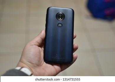 Bareggio, Milano / Italia - 16 february 2019 - Motorola Moto G7 Play