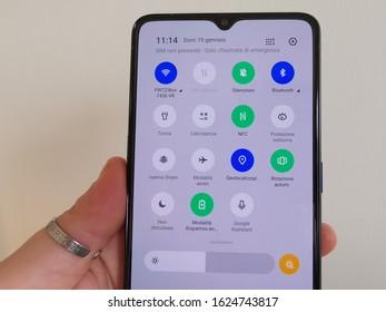 Bareggio, Milano / Italy - 01 19 20 smartphone realme X2 Pro