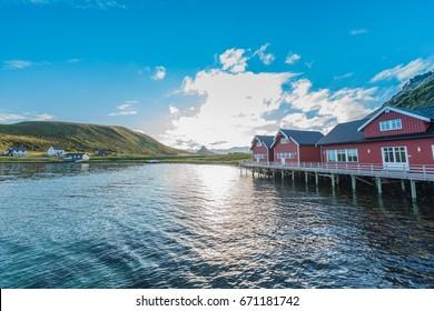 Barents Sea near Honningsvag in Finnmark, Norway