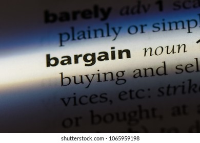 bargain word in a dictionary. bargain concept.