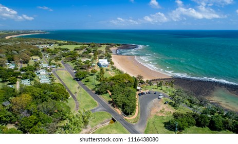 Bargara, Queensland / Australia - December 2017 - Aerial Photograph of Neilson's Park Beach