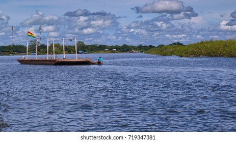 Barge in Mamore. Bolivia, south America.