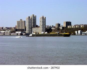 Barge on the Hudson