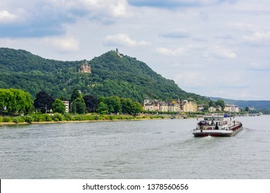 Barge on the Rhine River.