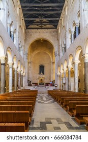 BARI, APULIA, ITALY - June 6, 2017: Cathedral of St. Sabino (1170-1178) in the old town of Bari, Italy